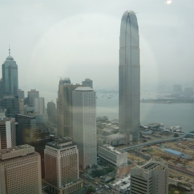 Blick von der bank of China