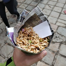 Essen in Zeitungspapier